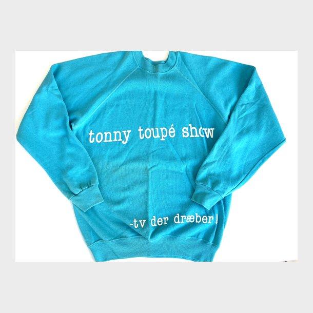 ORIGINAL ubrugt TONNY TOUPÉ SHOW sweatshirt 1985 str. M